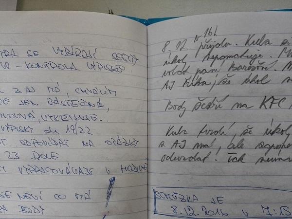 Putující deník mezi rodičem a asistentkou pedagoga