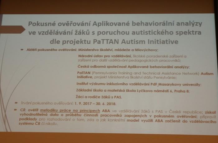 Na semináři o ABA terapii a projektu PaTTAN AI se tleskalo i plakalo 7