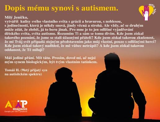 Dopis mému autistickému dítěti