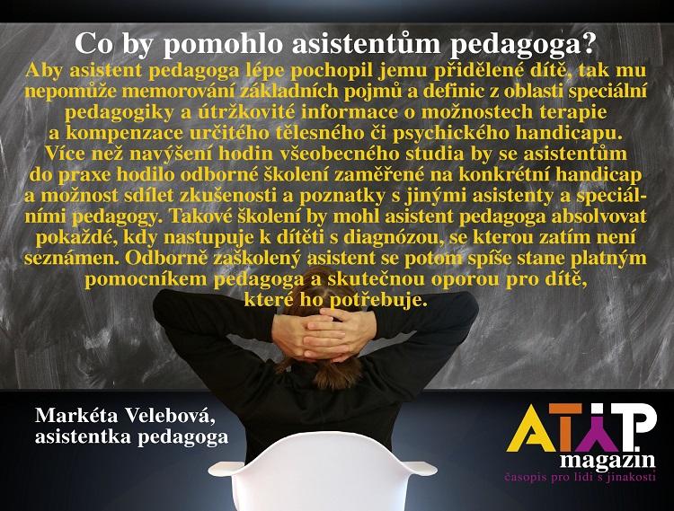 Jaké vzdělání pomůže vpraxi asistentům pedagoga? 2
