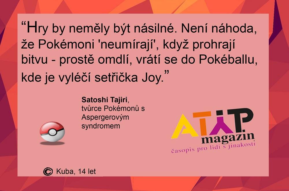 Pokemon Day: Hlavní hrdina Ash je alter ego autistického tvůrce Satoshi Tajiriho