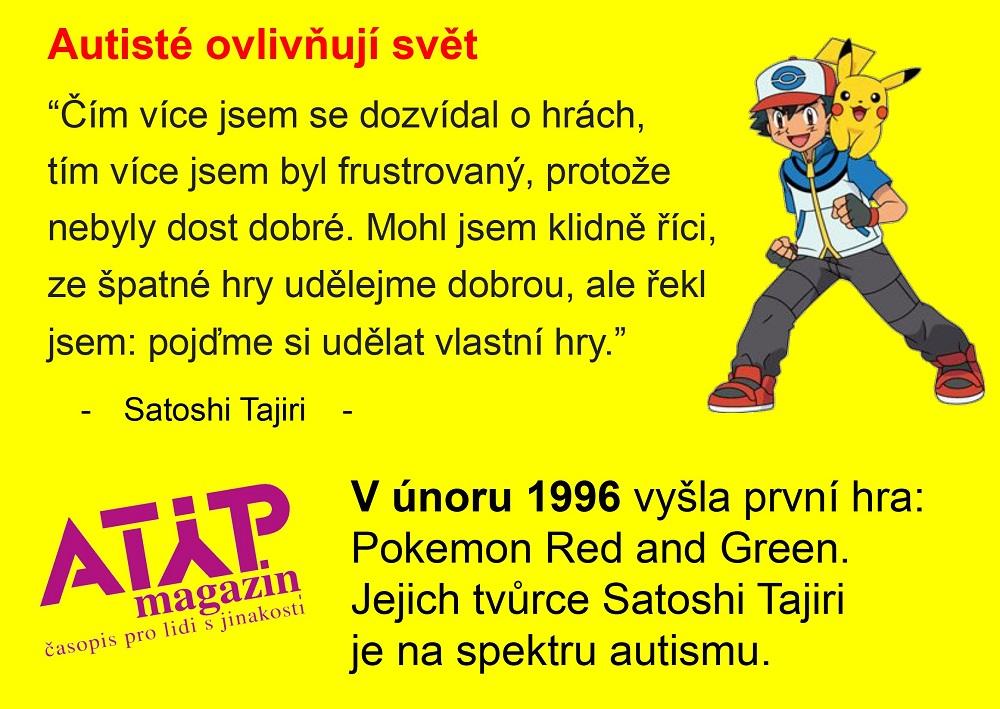 Pokémony stvořil autistický Japonec Satoshi Tajiri 2