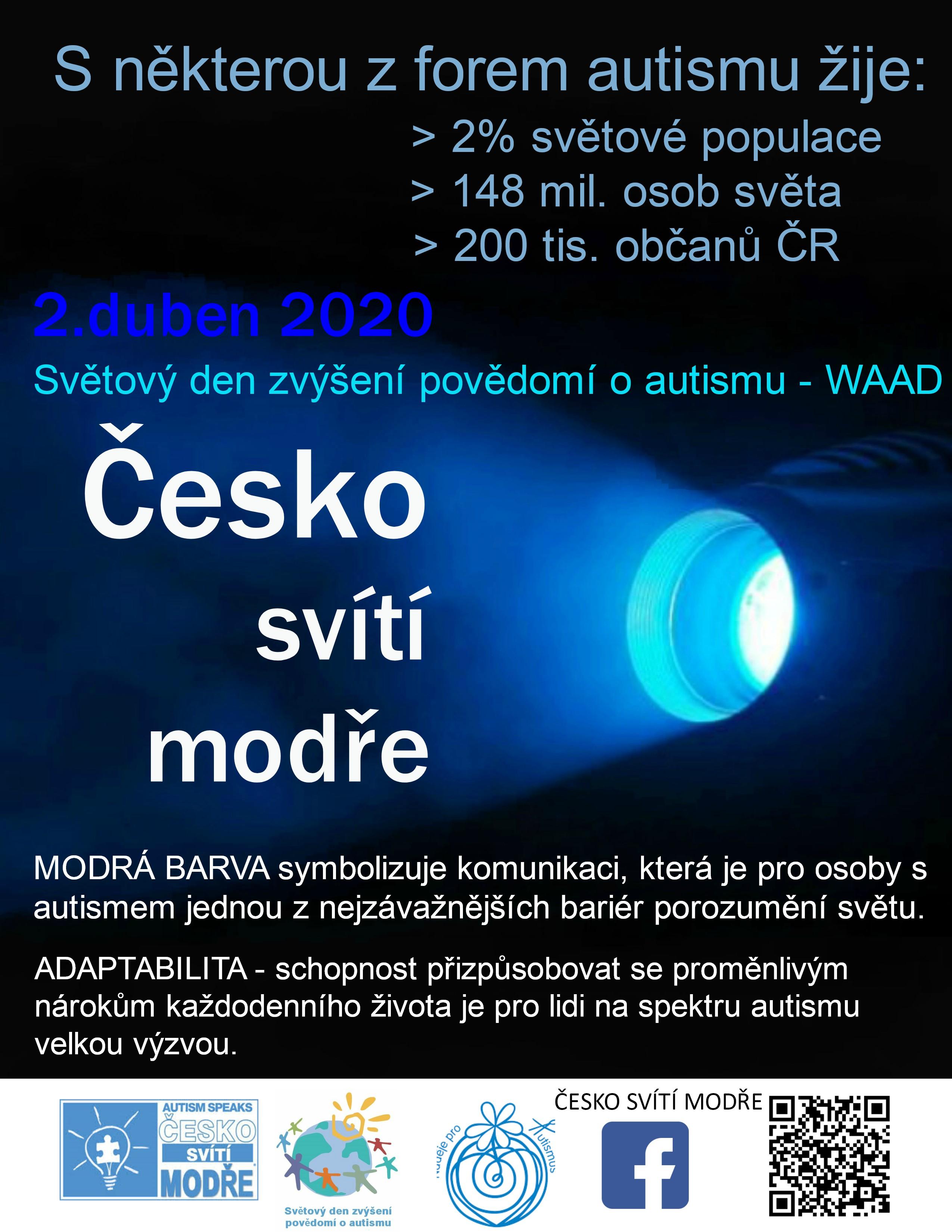 Česko svítí modře ke Světovému dni zvýšení povědomí o autismu 2020 1