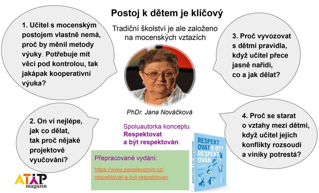 PhDr. Jana Nováčková: Tradiční uspořádání školy počítá sdonucováním 1