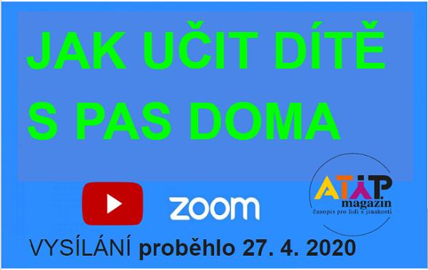 Jak učit dítě s autismem doma - Zoom live 2