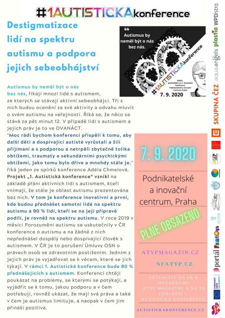 TZ: 1. Autistická konference bude 7. září