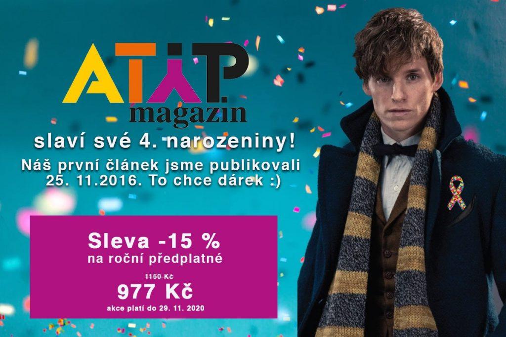 ATYP magazín slaví 4. narozeniny a máme pro vás dárek 4