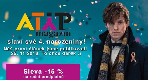 ATYP magazín slaví 4. narozeniny a máme pro vás dárek 5